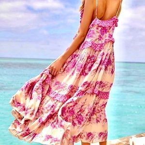 NWT Spell & The Gypsy Coco Lei Strappy Gown Lilac